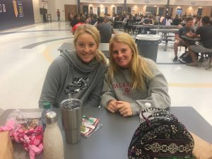 Juniors Brittney and Kasey showing their support!